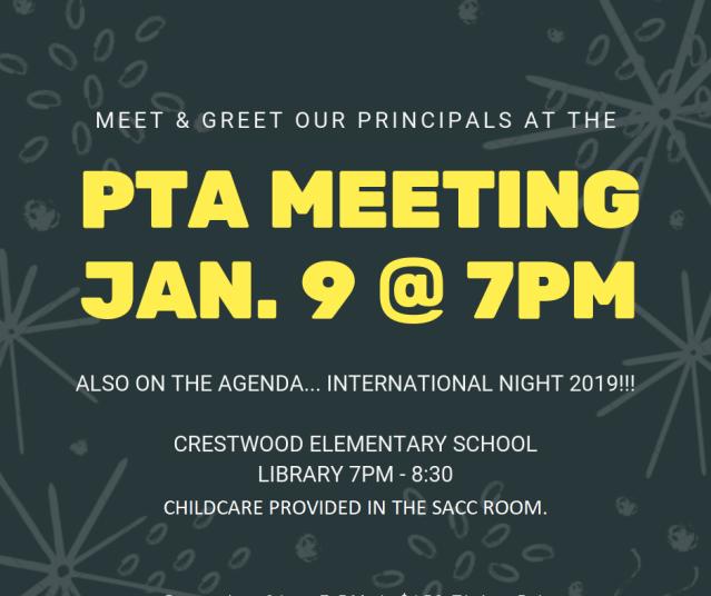 pta meeting 20190109